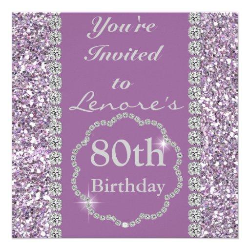 80th BLING Birthday Party Invitation