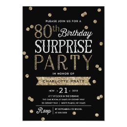 Surprise 80th Birthday Invitations Announcements Zazzle