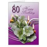 80th Happy Birthday Card