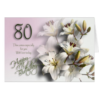 94 Birthday Cards 80 Years Old Year Woman
