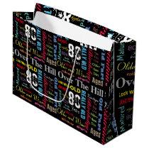 80th Happy Birthday | Milestone Large Gift Bag
