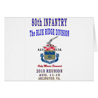 80th INFANTRY DIVISION Card