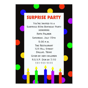 Surprise 80th birthday invitations announcements zazzle 80th surprise birthday party invitation dots stopboris Choice Image