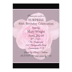 Surprise 80th birthday party invitations announcements zazzle 80th surprise birthday party invitation rose filmwisefo
