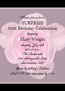 Surprise 80th birthday invitations zazzle 80th surprise birthday party invitation rose filmwisefo