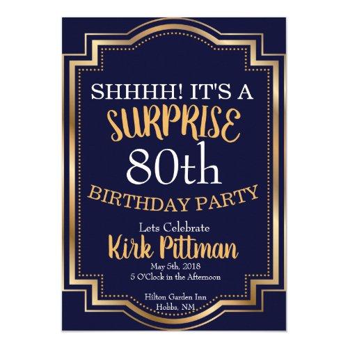 80th Surprise Party Invitation