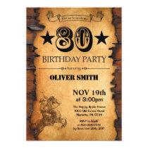 80th Western Birthday Invitation