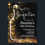 "80th Wine Birthday Invitation. Aged to Perfection Invitation<br><div class=""desc"">80th Wine Birthday Invitation. Aged to Perfection. Red Wine. Wine Tasting Invitation. Black and Gold Glitter Champagne. 18th 20th 21st 30th 40th 50th 60th 70th 80th 90th 100th,  Any Ages. For further customization,  please click the ""Customize it"" button and use our design tool to modify this template.</div>"