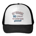 80th year birthday designs trucker hat