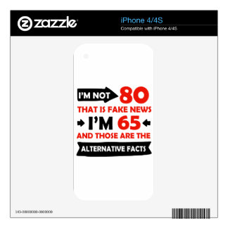 80th year old birthday gifts iPhone 4 skin