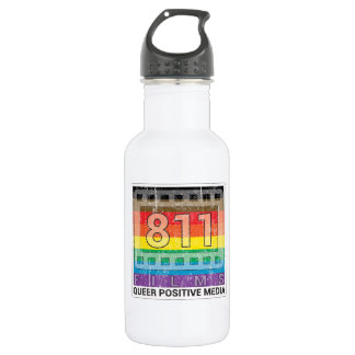 811 Films New Rainbow DISTRESSED LOGO 18 oz. Water Bottle