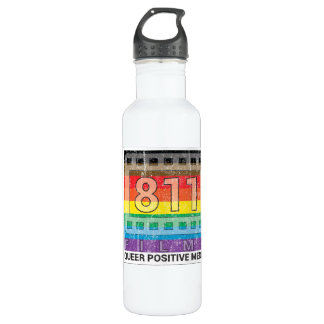 811 Films New Rainbow DISTRESSED LOGO 24 oz. Water Bottle