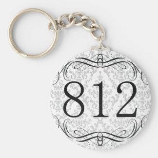 812 Area Code Keychain