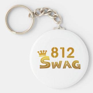 812 Indiana Swag Keychain