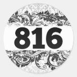 816 ETIQUETAS REDONDAS