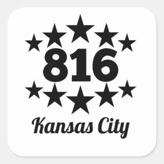 816 Kansas City Pegatina Cuadrada