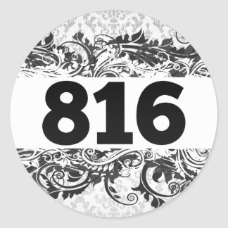 816 PEGATINA REDONDA