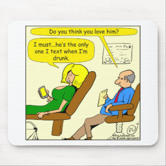 817 drunk text cartoon mouse pad