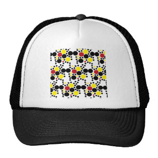 818 RED WHITE BLACK RED POLKA DOTS BACKGROUNDS WAL TRUCKER HAT