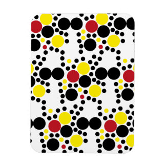 818 RED WHITE BLACK RED POLKA DOTS BACKGROUNDS WAL RECTANGULAR PHOTO MAGNET