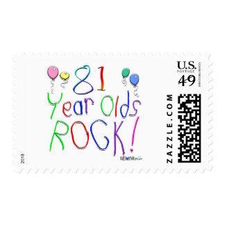 ¡81 años de la roca! sellos