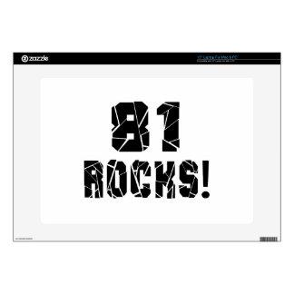 81 diseños del cumpleaños de las rocas skins para portátiles