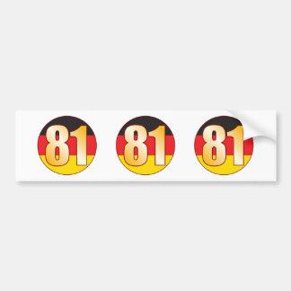 81 GERMANY Gold Bumper Sticker