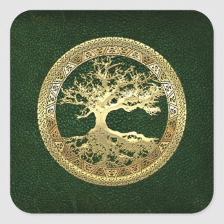 [81] Golden Celtic Tree of Life [3D] Sticker
