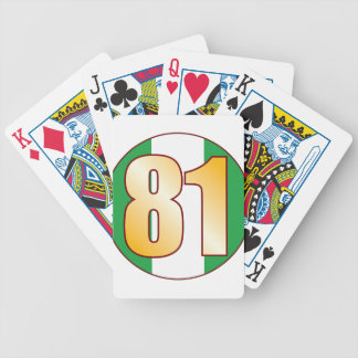 81 NIGERIA Gold Bicycle Playing Cards