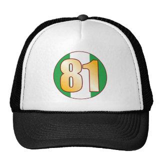 81 NIGERIA Gold Trucker Hat