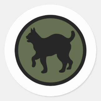 81.o División de infantería Pegatina Redonda