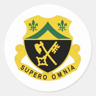 81.o Regimiento de la armadura Pegatina Redonda