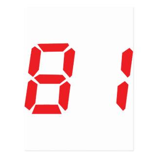 81 ochenta y uno números digitales del despertador tarjetas postales