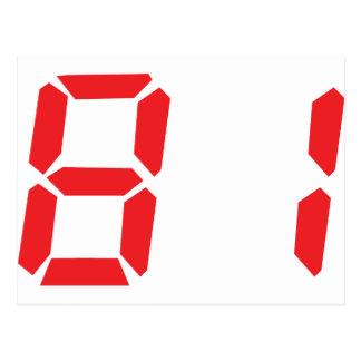 81 ochenta y uno números digitales del despertador postales