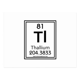 81 Thallium Postcard