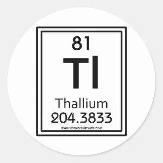 81 Thallium Classic Round Sticker