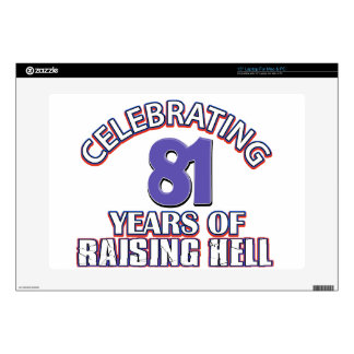 81 years of raising hell laptop decals