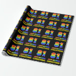 [ Thumbnail: 81st Birthday: Bold, Fun, Simple, Rainbow 81 Wrapping Paper ]