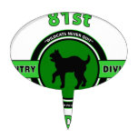 "81ST INFANTRY DIVISION ""WILDCAT"" DIVISION CAKE TOPPER"