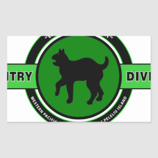 "81ST INFANTRY DIVISION ""WILDCAT"" DIVISION RECTANGULAR STICKER"