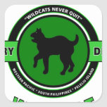 """81ST INFANTRY DIVISION """"WILDCAT"""" DIVISION SQUARE STICKERS"""