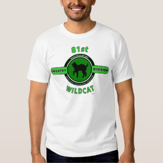 """81ST INFANTRY DIVISION """"WILDCAT"""" DIVISION TEE SHIRT"""