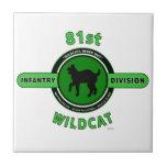 "81ST INFANTRY DIVISION ""WILDCAT"" DIVISION CERAMIC TILES"