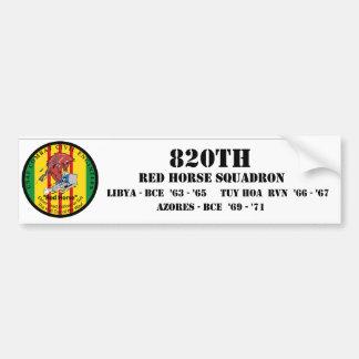 820o Escuadrilla roja del caballo Etiqueta De Parachoque