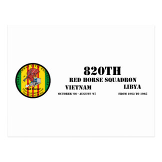 820th Red Horse Squadron Postcard