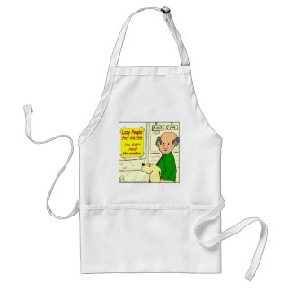 821 lazy people fact number cartoon adult apron