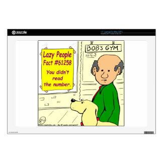 821 lazy people fact number cartoon laptop skin