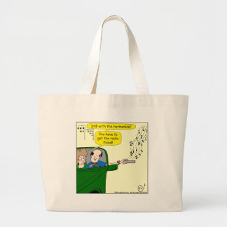822 get radio fixed cartoon large tote bag