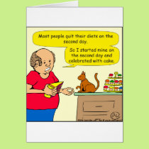 823 cake cartoon card
