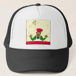 824 pizza by the slice cartoon trucker hat